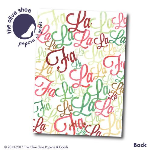 Fa La La La La // Red  // Holiday Card