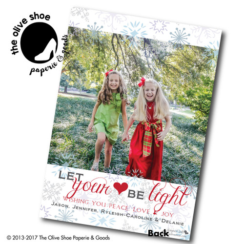 Let Your Heart Be Light // Holiday Card