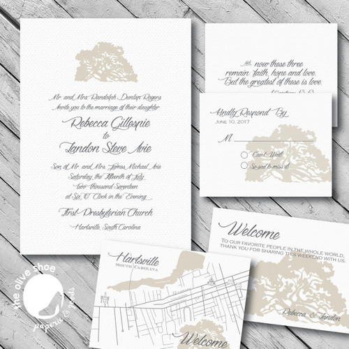 Bespoke Wedding Stationery Deposit // Custom Design and Print