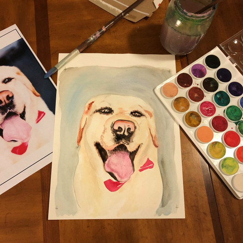 Pet Portrait // Custom Watercolor Painting