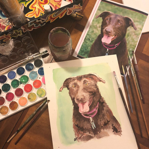 Pet Portrait // Custom Watercolor Painting
