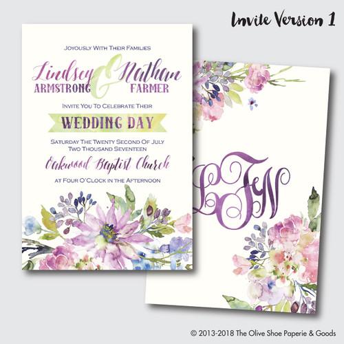 The Lindsey  // Wedding Invitation Suite