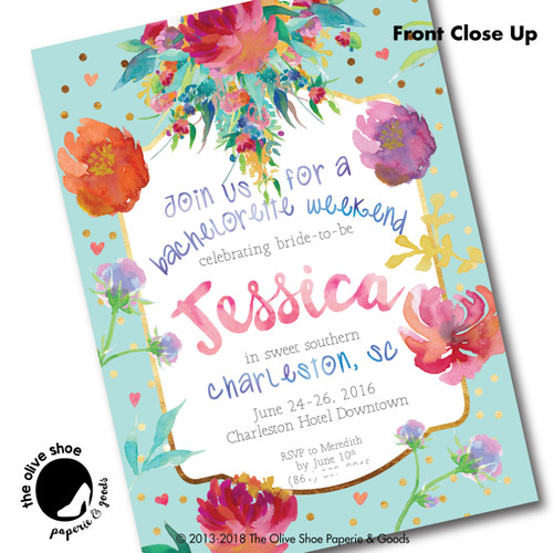 Bachelorette Bouquet // Wedding Shower Invitation