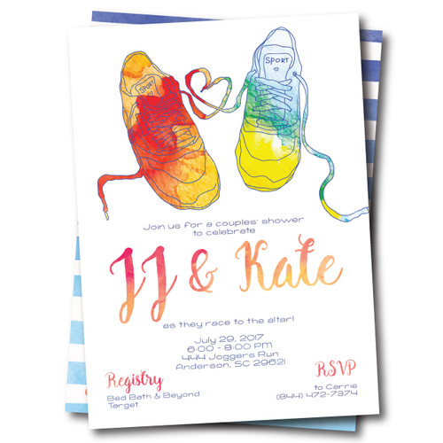 Race to the Altar // Wedding Shower Invitation