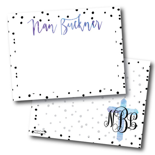 """Flat Note Cards // Dot the """"I""""s and Cross My Heart Stationery Suite"""