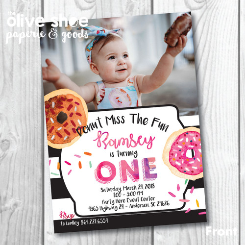 Donut Miss The Fun // Birthday Invitation