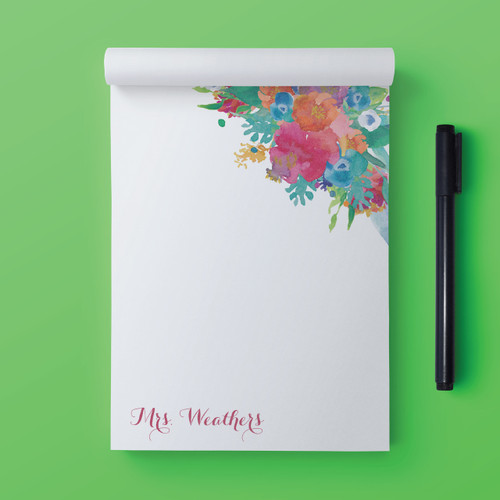 Write One Bloomin' Minute // Note Pad
