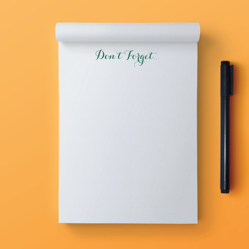 Notepad to Self // Note Pad
