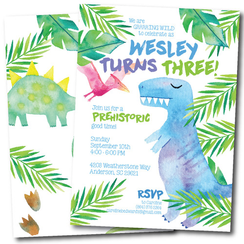 Birthday-O-Saurus // Birthday Invitation