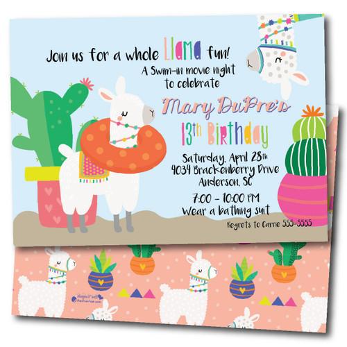 Llama Tell You Bout A Party // Birthday Invitation