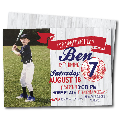 Homerun Hero // Birthday Invitation