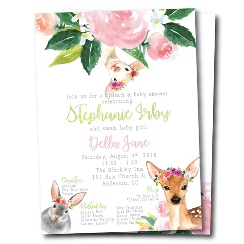 Little Lamb // Baby Shower Invitation