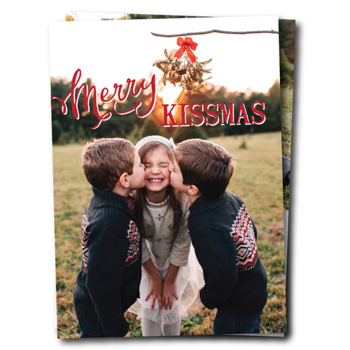 Merry Kissmas Vertical // Holiday Card