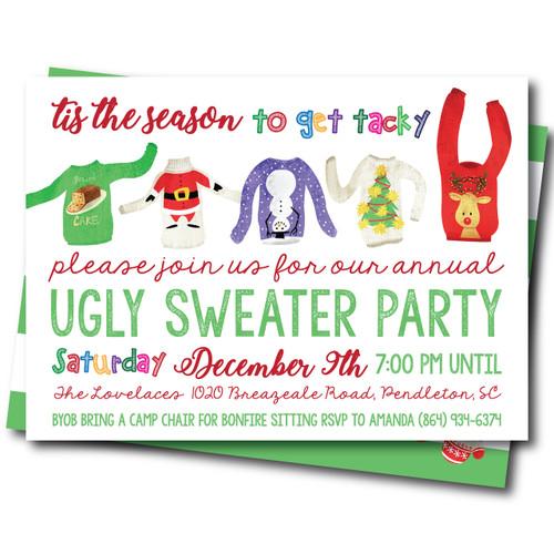 Tis The Season To Be Tacky // Holiday Card