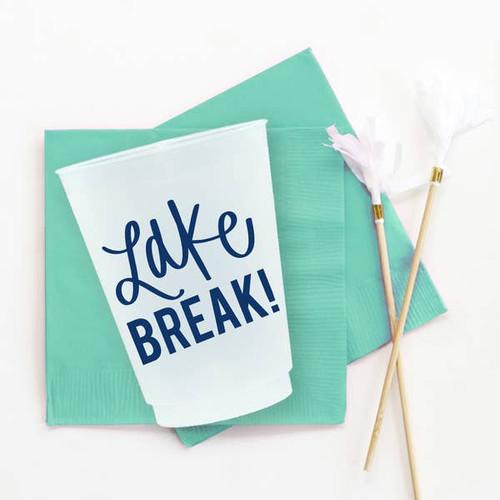 Lake Break // Set of 10 Shatterproof Cups