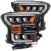 AlphaRex 15-17 Ford F150 / 17-20 F150 Raptor NOVA-Series LED Projector Headlights Black