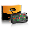 Auxbeam 8 Switch Dimmable Universal LED Switch Panel Kit (Green Backlight)