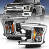 2018-2020 Ford F-150 Anzo Plank Style Projection Headlights (Chrome Housings)
