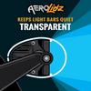 """Aerolidz Light Bar Cover - 50"""" / 52"""" - Smoked - Dual Row"""