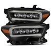 AlphaRex 16-21 Toyota Tacoma NOVA-Series LED Projector Headlights (Black)