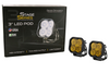 """Diode Dynamics Stage Series 3"""" Pro Yellow Combo Standard (Pair)"""