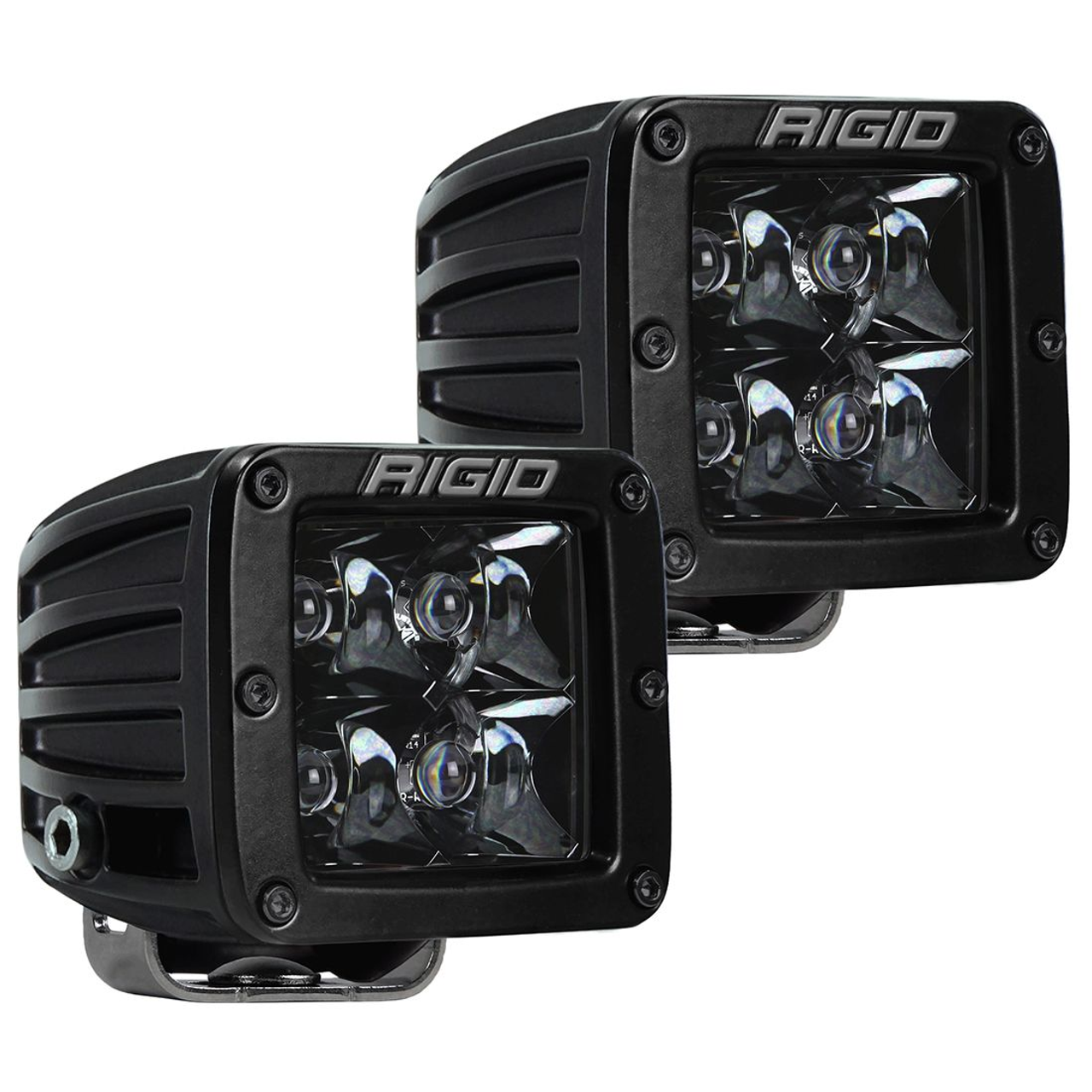 Pair Black Rigid Industries D-Series PRO Hybrid-Flood LED