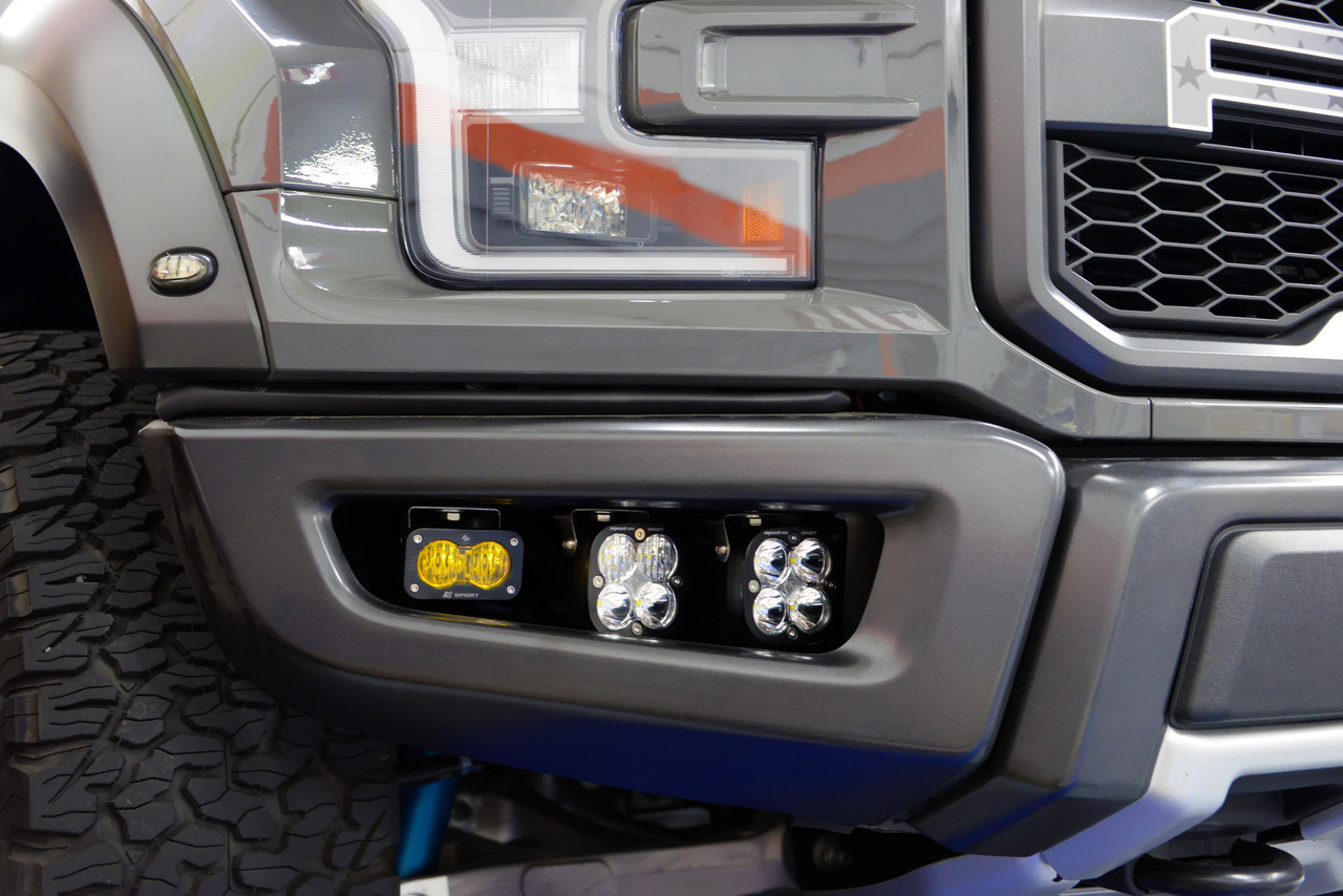 2017 Ford Raptor Triple Fog Light Kit W Baja Designs