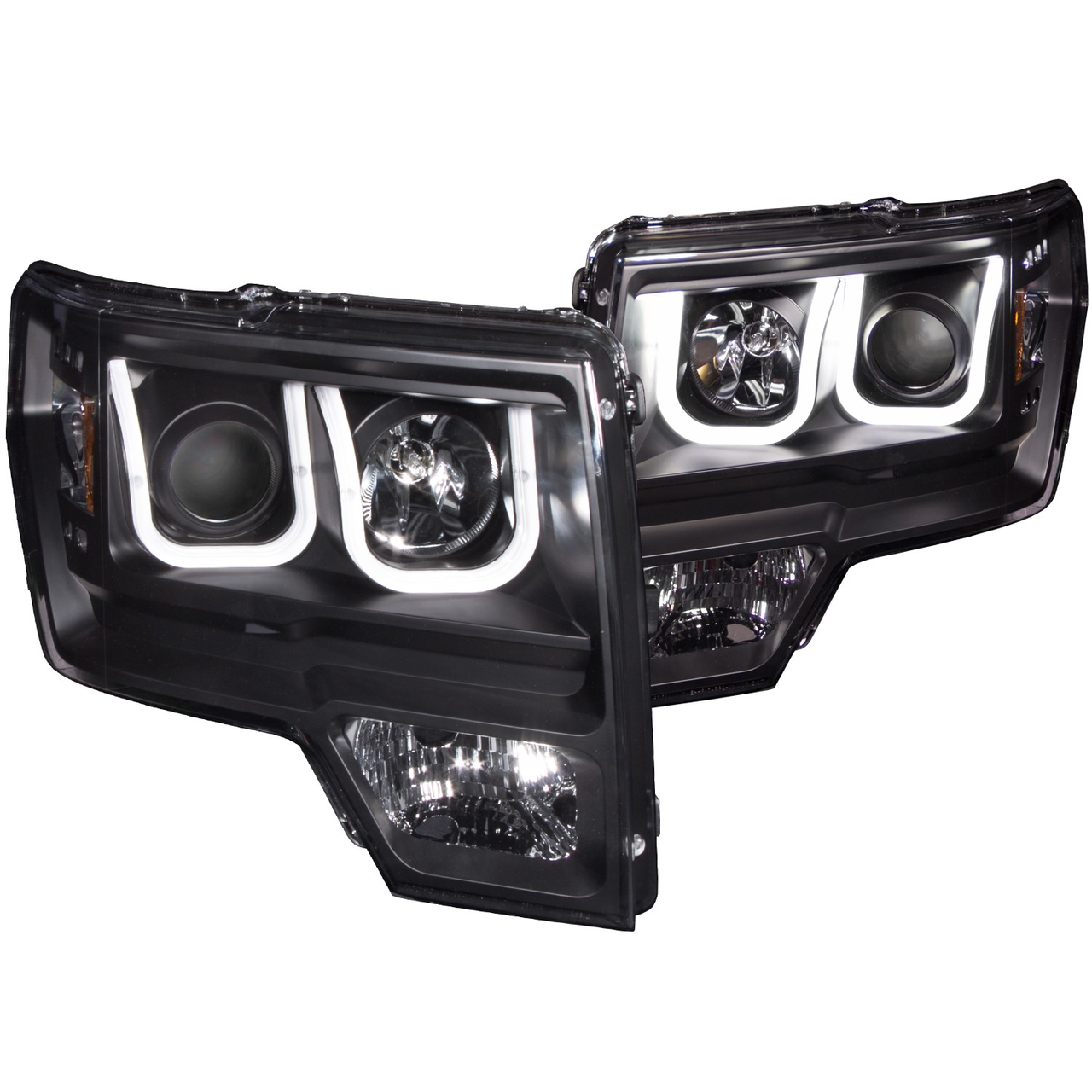 2014 F150 Headlights >> 2009 2014 F150 Raptor Anzo U Bar Headlights Black
