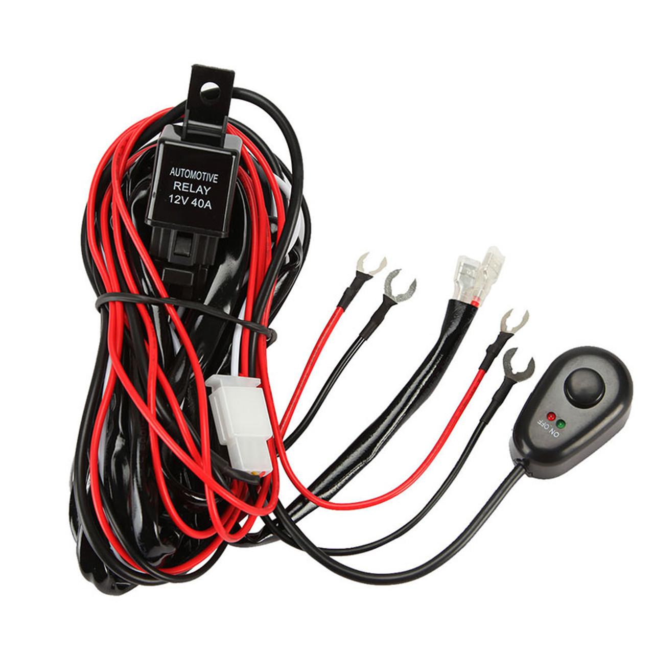 12V 40A LED Light Bar Wiring Harness Kit (Single Light) - 4x4TruckLEDs.com4x4TruckLEDs.com