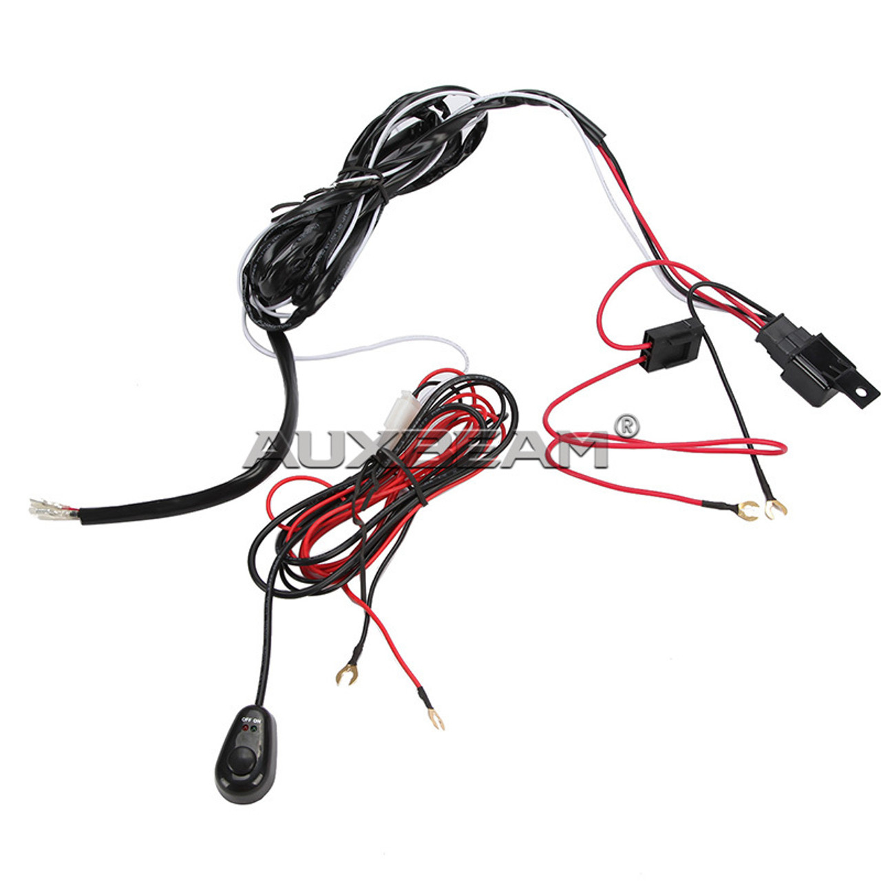 12V 40A LED Light Bar Wiring Harness Kit (Single Light