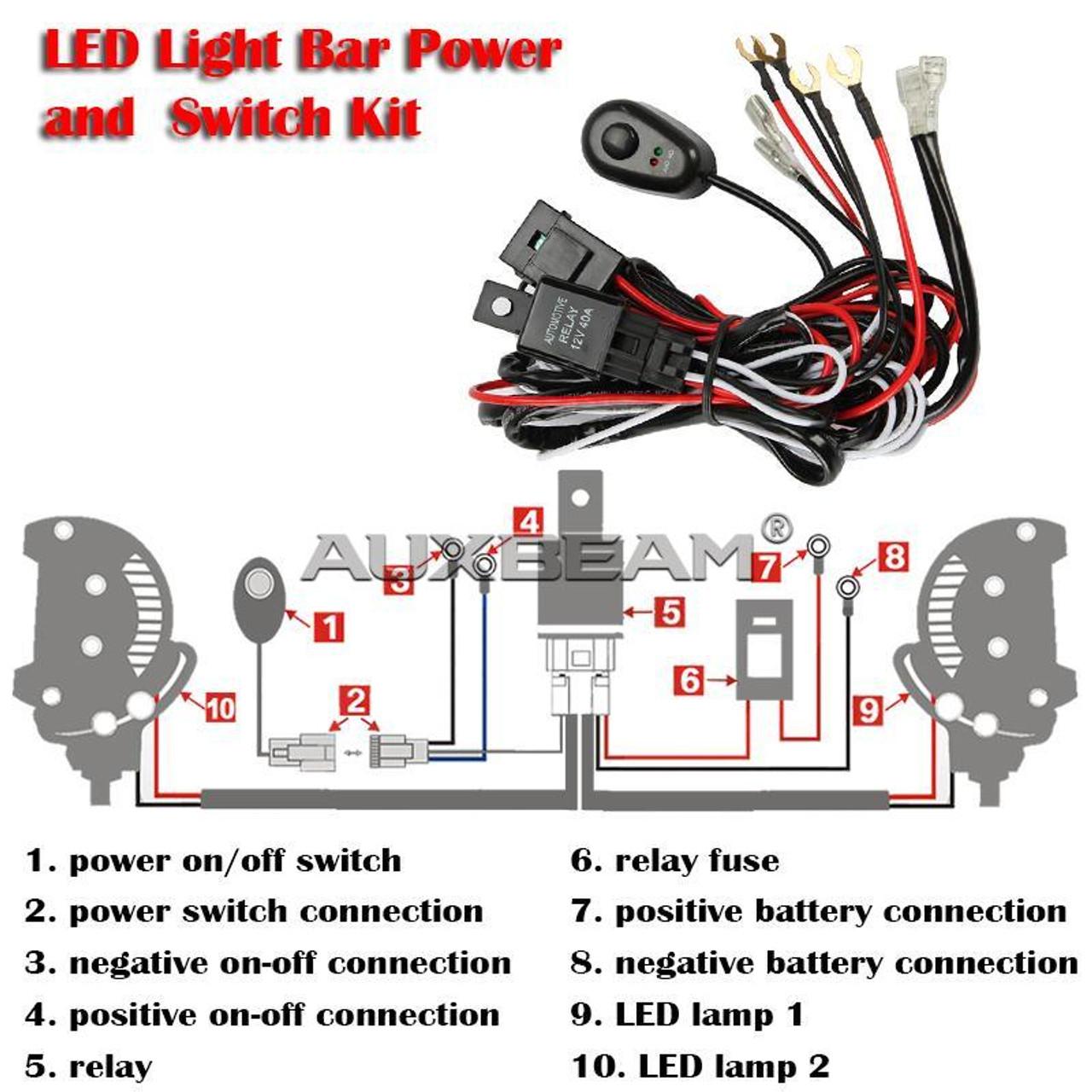 12v 40a led light bar wiring harness kit (dual lights12v 40a led light bar wiring harness kit (dual lights)