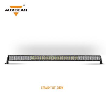 "AuxBeam V-Series 52"" 300W Combo Straight RGB LED Light Bar (5D Projector Lens)"