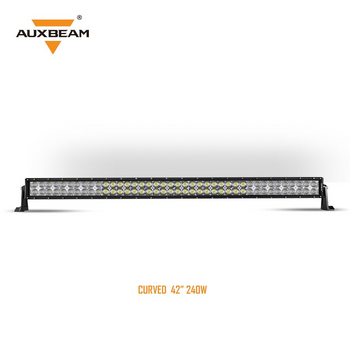 "AuxBeam V-Series 42"" 240W Combo Curved RGB LED Light Bar (5D Projector Lens)"