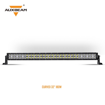 "AuxBeam V-Series 32"" 180W Combo Curved RGB LED Light Bar (5D Projector Lens)"