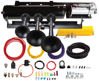 Kleinn Onboard Air System with Model 730 Train Horn for 2009-2014 Ford F-150 and SVT Raptor