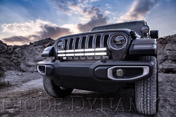 Diode Dynamics 2018+ Jeep JL Wrangler Bumper LED Light Bar Kit