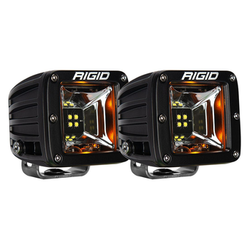Rigid Industries Radiance Scene Lights, Surface Mount Pair (Amber Backlight)