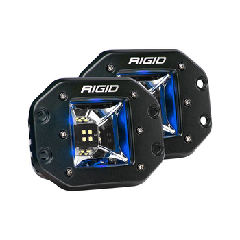 Rigid Industries Radiance Scene Lights, Flush Mount Pair (Blue Backlight)