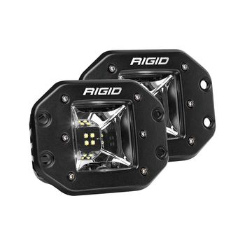 Rigid Industries Radiance Scene Lights, Flush Mount Pair (White Backlight)