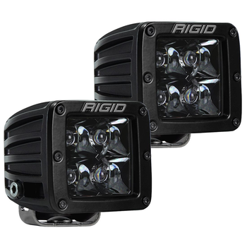 Rigid Industries Midnight Edition D-Series Pro, Spot (Surface Mount) Pair