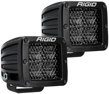 Rigid Industries Midnight Edition D-Series Pro, Spot Diffused (Surface Mount) Pair