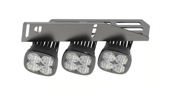 2017+ Ford Raptor Triple Fog Light Kit (w/Baja Designs Lights)