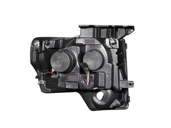 2009-2014 F150 & Raptor ANZO U-Bar Headlights (Black)