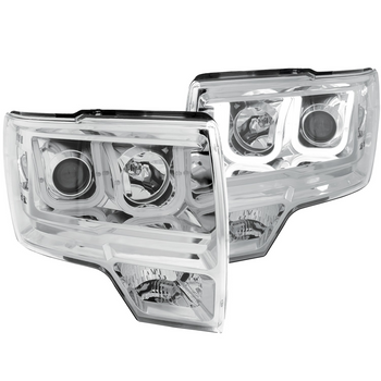 2009-2014 F150 & Raptor ANZO U-Bar Headlights (Chrome)