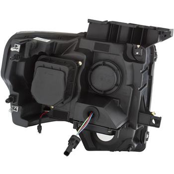 2009-2014 F150 & Raptor ANZO U-Bar Headlights for Factory HID (Black)