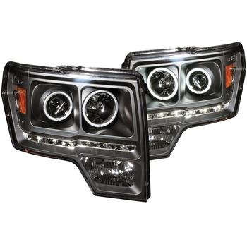 2009-2014 F150 & Raptor ANZO G2 CCFL Halo Projector Headlights (Black)