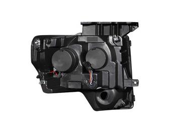 2009-2014 F150 & Raptor ANZO G1 CCFL Halo Projector Headlights (Black)