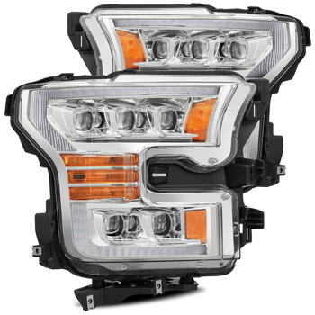 AlphaRex 15-17 Ford F150 / 17-20 F150 Raptor NOVA-Series LED Projector Headlights Chrome
