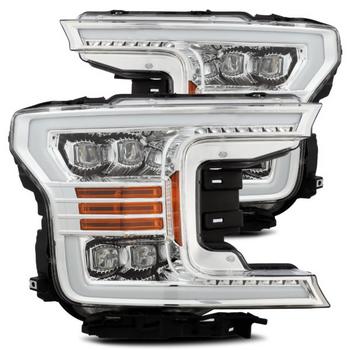 AlphaRex 18-19 Ford F150 NOVA-Series LED Projector Headlights Chrome