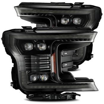 AlphaRex 18-19 Ford F150 NOVA-Series LED Projector Headlights Midnight Black